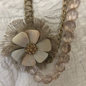 Jewelry - ⬇️Necklace, Goldtone with Lg, Flower & Bling, $10